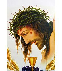Jesus Christ Wearing Crown of Thorns