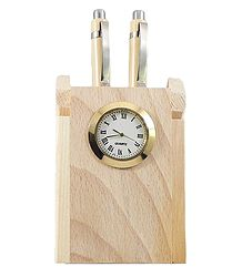 Table Clock with Pen Stand
