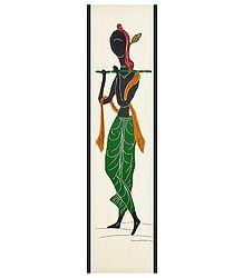 Appliqued Murlidhara Krishna on Cotton Cloth