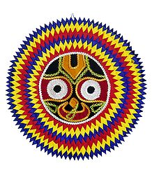 Jagannathdev on Appliqued Cotton Cloth - Wall Hanging