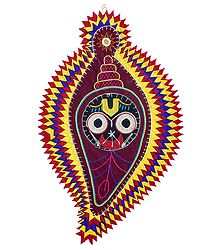 Buy Face of Jagannathdev on Appliqued Cotton Cloth