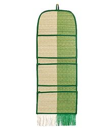 Grass Fibre Magazine and Paper Holder with 3 Pockets - Wall Hanging
