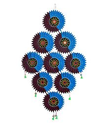Cluster of Suns in Appliqued Cotton Cloth
