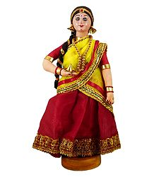 Assamese Bride - Cloth Doll