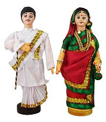 Bengali Couple - Cloth Doll