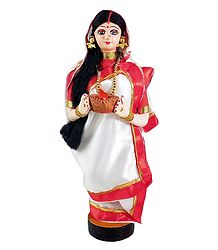 Buy Bengali Lady with Diya - Cloth Doll