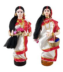 Buy Online Pair of Bengali Pujarini