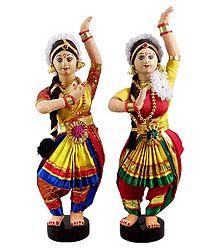 Pair of Bharatnatyam Dancers