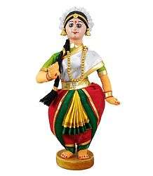 Bharatnatyam Dancer - Cloth Doll