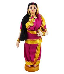 Bengali Lady Going to Fetch Water - Cloth Doll