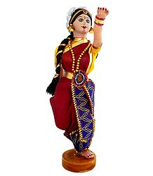 Bharatnatyam Dancer Doll
