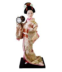 Japanese Doll Playing Drum