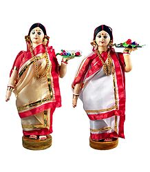 Buy Online Pair of Bengali Pujarini