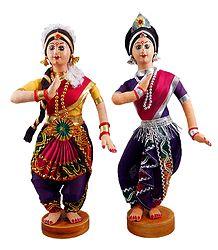 Bharatnatyam and Odissi Dancers