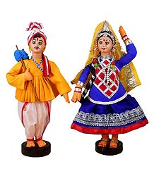 Gujrati Couple - Cloth Doll