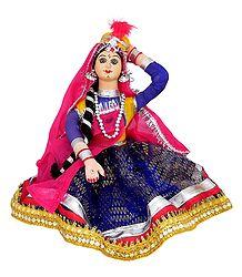 Kathak Dancer - Cloth Doll
