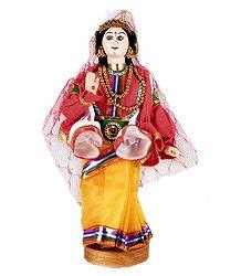 Draupadi - Kathakali Doll