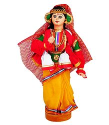 Kathakali Dancer as Draupadi - Cloth Doll