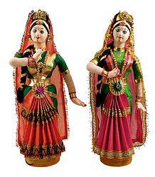 Buy Pair of Kuchipudi Dancers