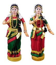 Pair of Kuchipudi Dancers