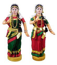 Pair of Kuchipudi Dancers