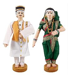 Buy Online Maharashtrian Bridal Cloth Doll