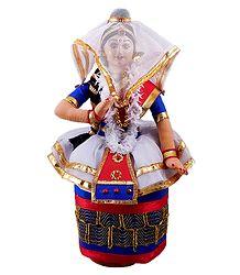 Manipuri Dancer - Cloth Doll