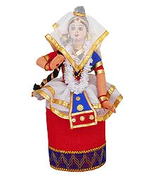 Manipuri Dancer - Cloth Doll