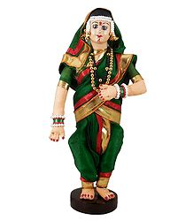 Maharashtrian Bride - Cloth doll