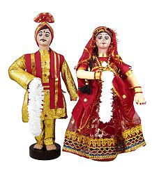 Marwari Bridal Doll from Rajasthan - Cloth Doll