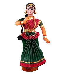 Mohini Attam Dancer - Cloth Doll