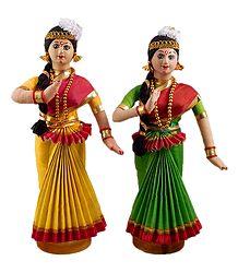 Pair of Mohini Attam Dancers