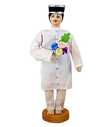 Parsi Groom - Cloth doll