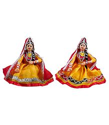 Pair of Rajasthani Folk Dancers