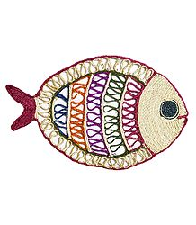 Colorful Banana Fibre Fish - Wall Hanging
