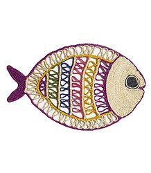 Colorful Banana Fibre Fish