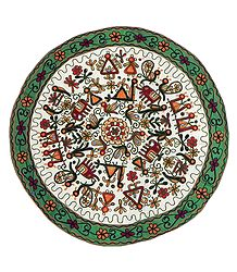 Embroidered Cloth with Folk Design - (Wall Hanging)