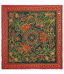 Embroidered Cloth with Animal Design