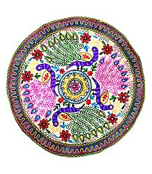 Embroidered Cloth with Peacock Design
