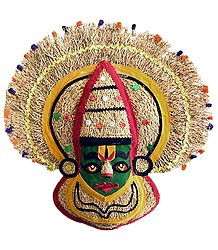 Kathakali Face - Khuskhus Root and Cloth Mask