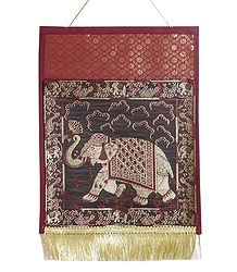 Buy Brocade Silk Paper Holder with One Pocket