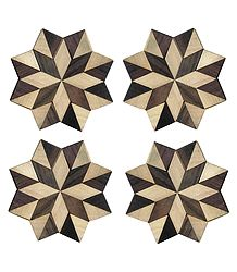 Octagonal Shaped Wooden Coasters