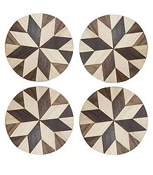 Round Shaped Wooden Coasters