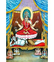 Image of Tripura Sundari from the Book 'Dus Mahavidya - In Hindi'