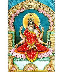 Image of Bhuvaneshwari from the Book 'Dus Mahavidya - In Hindi'