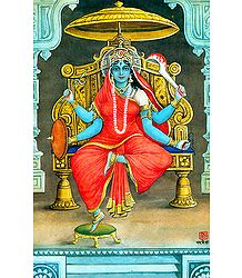 Image of Matangi from the Book 'Dus Mahavidya - In Hindi'