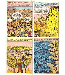 Garuda Douses the Fire Surrounding the Amrita - from the Book 'Garuda'