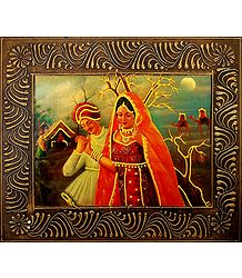 Gujrati Couple - Deco Art Wall Hanging