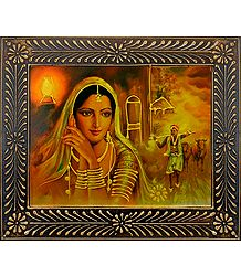 Buy Rajasthani Beauty - Deco Art Wall Hanging
