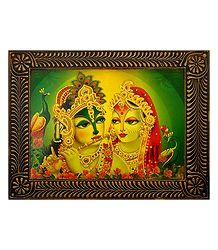 Radha Krishna - Divine Lovers - Deco Art Wall Hanging
